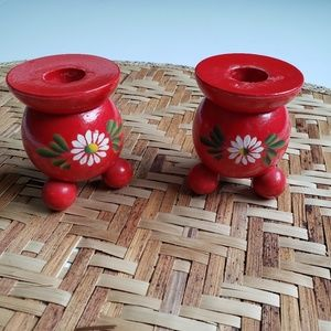 Made in Sweden Round Daisy Candle Holders